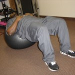 bridging exercise ball