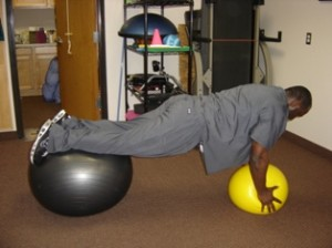 Plank Exercises with Two Exercise Balls