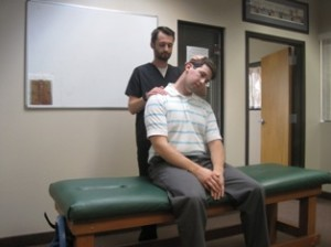 Neck stretching for relieving  neck and back pain